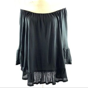 Urban Outfitters Ecote Off Shoulder Ruffle Top
